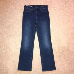 NYDJ Marilyn Straight Leg Jeans Lift Tuck Dark
